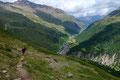 … konnten wir uns stets am wunderbaren Tiefblick auf das Bergsteigerdorf erfreuen.