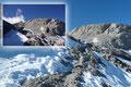 """Rudolf und ich auf dem Weg zur eigentlichen Schlüsselstelle unserer heutigen Bergtour auf den """"Hochkönig (2941m)""""."""