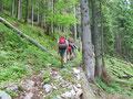 Und weiter gings Richtung Feuerkogelplateau. In unzähligen Serpentinen bergwärts, bis wir ...