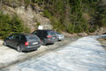 """Als Startpunkt unserer heutigen Schneeschuhtour aufs Gumpeneck (2226m) fungierte der gut beschilderte Parkplatz in der Nähe des """"Koller""""-Gehöfts auf 1100m Seehöhe."""
