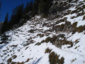 Der Weg zurück zur Bergstation
