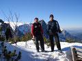 Ein nettes Foto von zwei ausgesprochen gut aussehenden Berggämsen