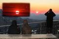 Die anderen unseres 16-köpfigen Dachstein-Teams genossen den Sonnenuntergang von der Hüttenterrasse aus. Ein herrliches Erlebnis!