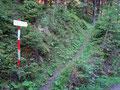 Abermals überquerten wir einen Karrenweg bevor uns der weitere Wegverlauf den Berghang empor führte.
