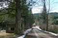 """Schon bald darauf erreichten wir auch die Jagdhütte """"Holzstube"""" und wanderten schnurstracks an ihr vorbei bis …"""