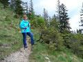 Rudis Frau Margit machte noch ein letztes mal Rast um die letzten noch mal wirklich steilen Serpentinen bewältigen zu können