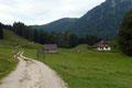 … an dessen Ende ich abermals auf die Forststraße traf. Im moderaten Tempo ging es nun der idyllisch gelegenen Unterbergeralm (735m) entgegen.