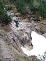 Einen kleinen Wasserfall ...