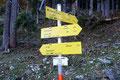 ... und schon waren wir fast am Endpunkt unsere Tour angekommen.Vorbei am Wegweiser Richtung Schneelochweg zum Hochtor ...