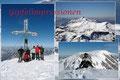 Mit gebührendem Applaus wurde er von unserer Gruppe auf der weißen Gipfelkuppe des Schönberges empfangen. Ein zufriedenes Strahlen triumphierte die Gipfelimpressionen beim Fotoshooting.