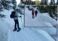 Zielstrebig orientierte sich unser Schneeschuhteam durch die beeindruckende Winterlandschaft bergwärts.