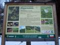 Eine Hinweistafel die das Landschaftsschutzgebiet Altpernstein beschrieb.