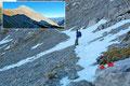 """Fasziniert blickte Wolfgang nochmals auf den eroberten """"Xeis-Gipfel""""  zurück; und für mich konnte ein weiterer Gipfel meiner langen Liste abgehakt werden!"""