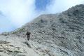 … Rinnen auf dem Weg zum höchsten Ennstaler Alpen-Gipfel aus. Trotz erhöhter Konzentration machte jeder Tritt und jeder Schritt einfach nur Spaß in diesem Gelände.