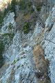 Anschließend führte uns der Verlauf des Aufstieges entlang des stets gut versicherten Steiges weiter nach links …