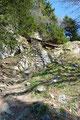 """Nach erstmaligen richtigen Durchschnaufen und einer kurzen Trinkpause setzte ich meinen Aufstieg weiter fort. Ab hier begann der eigentliche """"Steinerner Jäger Steig! Über eine kurze Leiter, einem Brücklein und …"""