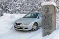 Als Ausgangspunkt der heutigen Schneeschuhtour fungierte der großzügige Parkplatz auf der Passhöhe Gschütt, welcher genau im Grenzbereich zwischen den Bundesländern Salzburg und Oberösterreich liegt.