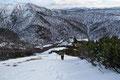 … im Anschluss daran klopften wir Tritt für Tritt geradlinig in den Schnee nach oben zum Hochsonntag.