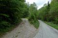 … und so starteten Gabi und ich bei dieser Weggabelung in der Nähe des idyllischen Örtchen Effertsbach.