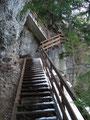... und schon waren die letzten Holztreppen erklommen.