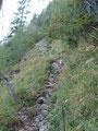 Ich setzte meinen Gipfelsturm über den Klettersteig weiter fort.