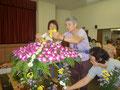 ハワイ仏教連合会主催の花まつり 準備