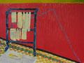 olie op canvasboard, 50 x 60