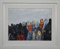Afghaanse vrouwen, olie op paneel, 30 x 40