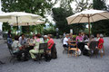 Erholung beim Kaffee im Museumsgarten.