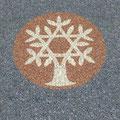 Zeichen Keltischer Lebensbaum aus farbigem Splitt - keltisches Symbol