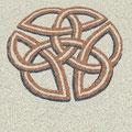 Zeichen Keltischer Knoten aus farbigem Splitt - keltisches Symbol