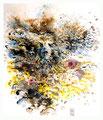 Vers l'eau - 2014- 2014 - 43 x 50 - Encres sur papier marouflé