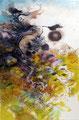Fouilles - 2015 - 40x30 - Encres sur papier de riz marouflé