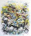 Hanneton - 2014 -  2014 - 43 x 50 - Encres sur papier marouflé
