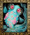 "響子""Kyoko""2013,53.0×45.5cm Acrylic colors on canvas."