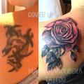 cover up tattoo by Mauri Manolibera Tattoo - freehandtattoo / Mauri's Tattoo&Gallery, Borgomanero (Italia)