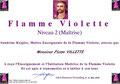 Maitre Enseignant Flamme Violette, Pierre Villette, Paris 17