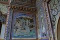 Wunderbare Wandbilder im Stadtpalast von Karauli