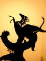 Pegasus flies out of Medusa's body when her head is cut off by Perseus/Pégase qui sort du corps de la Méduse lorsqu'elle a la tête tranchée  par Persée.