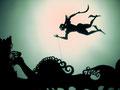 Perseus comes to save Andromeda/Persée vient sauver Andromède (ensuite il retourne avec elle et la tête  de la Méduse à l'île de Sériphos).