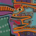 Indianische Maske - November 2011 - 20x20 cm