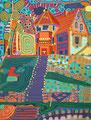 Buddhistisches Haus - September 2006 - 60x80 cm - verkauft