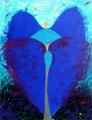 Gabriel-Blaues Herz - 2004 - 120x150 cm