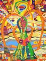 Der kunterbunte Engel - November 2003 - 60x80 cm