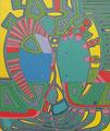Zitronenbunter Engel - Juni 2010 - 50x60 cm
