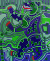 Berliner Bär 29 - August 2012 - 50x60 cm