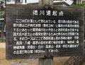 徳川道起点の案内板