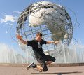2010. New York-Queens im Flushing-Meadows-Park am Unisphere.