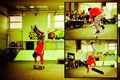 Deutsche Skateboard Meisterschaft, Guenter Mokulys: Handstand-Kickflip, One-Armed-Handstand und 50/50 Fingerflip.