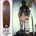 Erstes Model Skateboard Deck. Freestyle-Titus-Skates.
